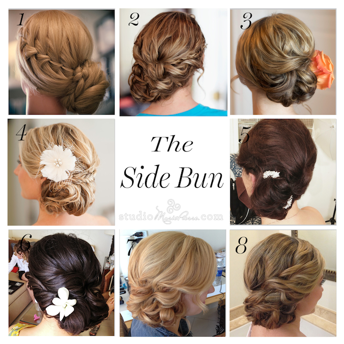 Side Bun: 8 styles - Studio Marie-Pierre Key West Hair Salon